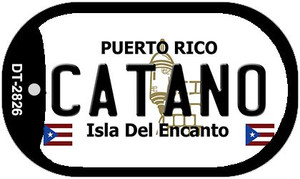 Catano Puerto Rico Flag Dog Tag Kit Wholesale Metal Novelty Necklace