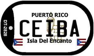 Ceiba Puerto Rico Flag Dog Tag Kit Wholesale Metal Novelty Necklace