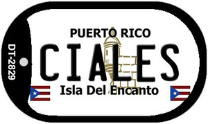 Ciales Puerto Rico Flag Dog Tag Kit Wholesale Metal Novelty Necklace