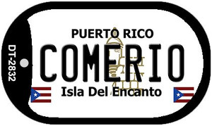 Comerio Puerto Rico Flag Dog Tag Kit Wholesale Metal Novelty Necklace