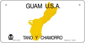 Guam State Background  Novelty Wholesale Bicycle License Plate