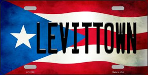 Levittown Puerto Rico Flag License Plate Metal Novelty Wholesale