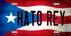 Hato Rey Puerto Rico Flag Background License Plate Metal Novelty Wholesale