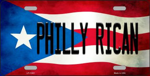 Philly Rican Puerto Rico Flag License Plate Metal Novelty Wholesale