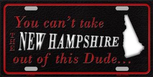 New Hampshire Dude License Plate Novelty Metal Wholesale