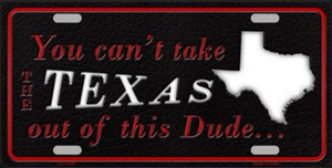 Texas Dude License Plate Novelty Metal Wholesale
