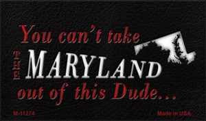 Maryland Dude Magnet Novelty Metal Wholesale M-11274