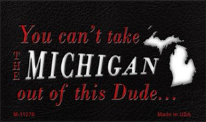 Michigan Dude Magnet Novelty Metal Wholesale M-11276