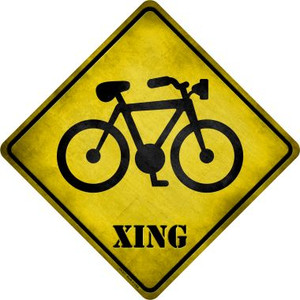 Bicycle Xing Wholesale Novelty Metal Crossing Sign