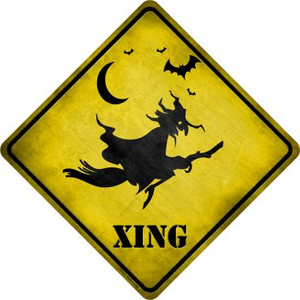 Spooky Witch Xing Wholesale Novelty Metal Crossing Sign