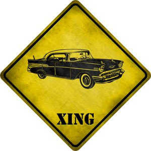 Classic '57 Chevy Xing Novelty Metal Crossing Sign Wholesale