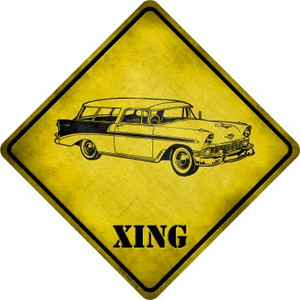 Classic '59 Cadillac Xing Novelty Metal Crossing Sign Wholesale