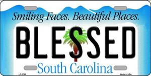Blessed South Carolina Wholesale Novelty License Plate LP-2780
