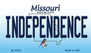 Independence Missouri State License Plate Wholesale Magnet