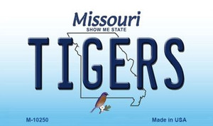 Tigers Missouri State License Plate Wholesale Magnet