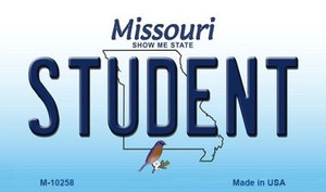 Student Missouri State License Plate Wholesale Magnet