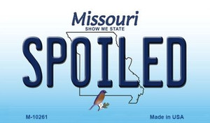 Spoiled Missouri State License Plate Wholesale Magnet