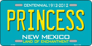 Princess New Mexico Teal Novelty Metal License Plate LP-2783