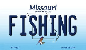 Fishing Missouri State License Plate Wholesale Magnet