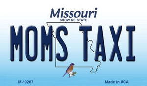 Moms Taxi Missouri State License Plate Wholesale Magnet