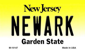 Newark New Jersey State License Plate Wholesale Magnet