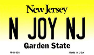 N Joy NJ New Jersey State License Plate Wholesale Magnet