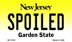 Spoiled New Jersey State License Plate Wholesale Magnet