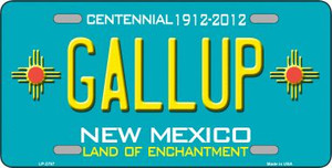 Gallup New Mexico Teal Wholesale Novelty Metal License Plate LP-2787