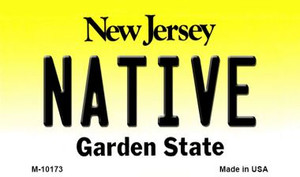 Native New Jersey State License Plate Wholesale Magnet
