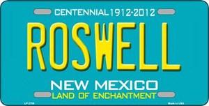 Roswell New Mexico Teal Wholesale Novelty Metal License Plate LP-2788