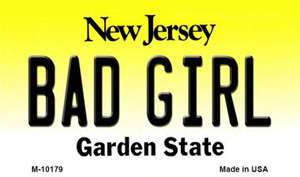 Bad Girl New Jersey State License Plate Wholesale Magnet