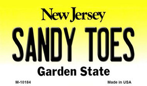 Sandy Toes New Jersey State License Plate Wholesale Magnet