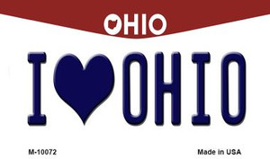 I Love Ohio State License Plate Wholesale Magnet