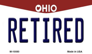 Retired Ohio State License Plate Wholesale Magnet