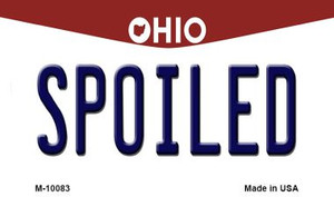 Spoiled Ohio State License Plate Wholesale Magnet