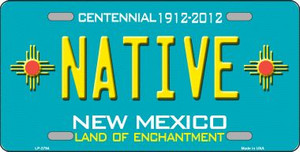 Native New Mexico Teal Wholesale Novelty Metal License Plate LP-2794