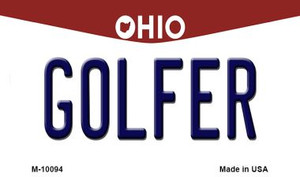 Golfer Ohio State License Plate Wholesale Magnet