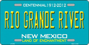 Rio Grande River New Mexico Teal Novelty Metal License Plate LP-2795