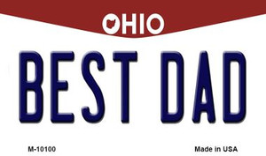 Best Dad Ohio State License Plate Wholesale Magnet