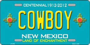 Cowboy New Mexico Teal Wholesale Novelty Metal License Plate LP-2796