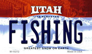Fishing Utah State License Plate Wholesale Magnet