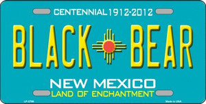 Black Bear New Mexico Teal Wholesale Novelty Metal License Plate LP-2799