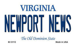 Newport News Virginia State License Plate Wholesale Magnet