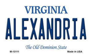 Alexandria Virginia State License Plate Wholesale Magnet