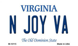 N Joy VA Virginia State License Plate Wholesale Magnet