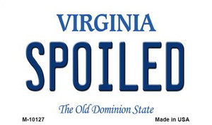 Spoiled Virginia State License Plate Wholesale Magnet