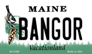 Bangor Maine State License Plate Wholesale Magnet