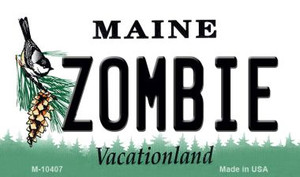 Zombie Maine State License Plate Wholesale Magnet