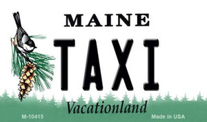 Taxi Maine State License Plate Wholesale Magnet