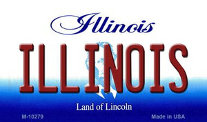 Illinois State License Plate Wholesale Magnet
